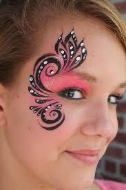 face paint simple side eye design for girls