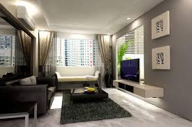 Modern Living Room Curtain Interior Modern Living Room Decoration Using Furry Dark Grey