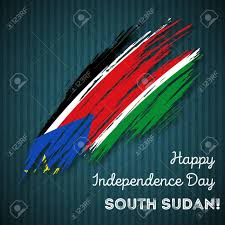 Sudan Design South Sudan Independence Day Patriotic Design Expressive Brush