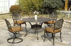 Tuscany Hanamint Luxury Cast Aluminum Patio Furniture 4 Person