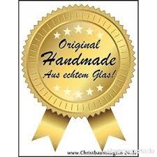 6 Tlg Glas Zapfen Set In Hochglanz Vintage Style