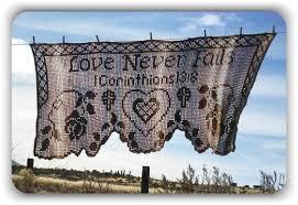 Love Never Fails Prayer Shawl - Filet Crochet Pattern & Charts Crochet  pattern by Kathleen Fields