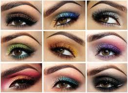 coloful eye makeup binations