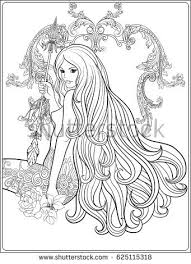 Beautiful Hair Coloring Pages
