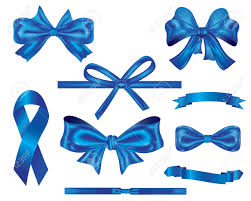 Blue Ribbon Design Collection Of Luxury Blue Ribbon And Bows For Decoration And