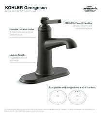 oil rubbed bronze single handle bathroom faucet handles sink stuck