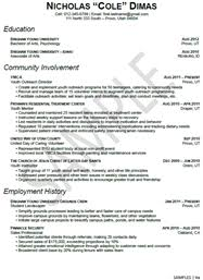 stem sample of the resume
