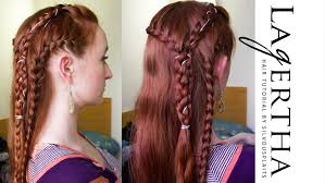 Viking Hairstyle Female vikings hair tutorial for lagertha season 2 youtube 4540 by wearticles.com
