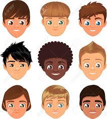 小さな男の子の頭に直面するアバター プロフィール漫画特殊文字セット
