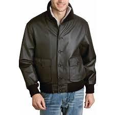 landing leathers men s navy a 1 leather flight er jacket 0