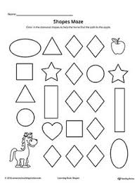 3bc12397a0b36600eb7d47b3c4b2e791 printable worksheets diamond shapes trace and drawing shapes to number shape, preschool printables on sentence development worksheets