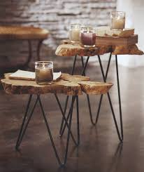 trunk table furniture. Creative Idea:Creative Brown Tree Trunk Coffee Tables With Iron Legs Feat Small Glass Candle Table Furniture I
