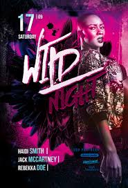 Download The Wild Night Party Free Flyer Template For Photoshop