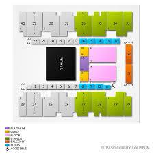 El Paso Coliseum Seating Chart El Paso County Coliseum 2019 Seating Chart