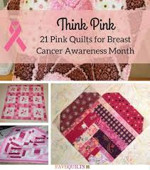 90 best Most Popular Free Quilt Patterns images on Pinterest ... & Think Pink: 21 Pink Quilts for Breast Cancer Awareness Month | This  October, go Adamdwight.com