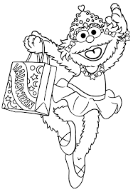 Small Picture Printable Sesame Street Coloring Pages Coloring Me
