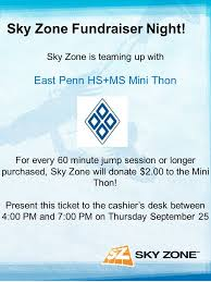 Sky Zone Fundraiser Night Sky Zone Is Teaming Up With East Penn Hs