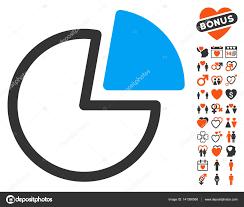 Pie Charts Icon With Lovely Bonus Stock Vector Ahasoft