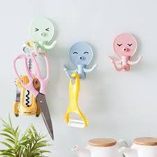 <b>3Pcs Lot</b> Creative Cartoon Octopus Strong Adhesive Hooks <b>Multi</b> ...