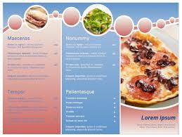Restaurant Menu Format Free Restaurant Menu Template Format Example