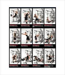 Gym Workout Chart Exercise Chart 7 Free Pdf Documents Download Free