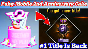 Pubg Mobile 2nd Anniversary Cake Is ...