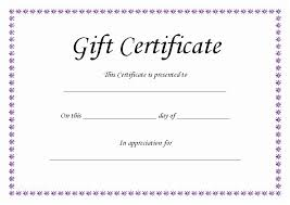 Gift Certificates Samples Adorable Sample Format Of Gift Certificate Sample Gift Certificate