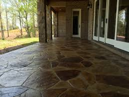 stained stamped concrete patio. Stamped Concrete Stained Patio M
