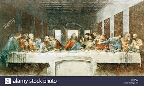 L Ultima Cena di Leonardo da Vinci del XV secolo la pittura murale a Milano  1495 1498 Foto stock - Alamy