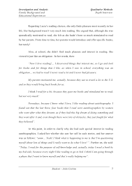 depth interview essay student joatildepoundo cotrim 1 2 investigation and analysis