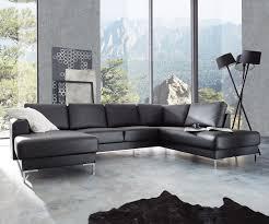 Designer Wohnlandschaft Silas 300x200 Schwarz Ottomane