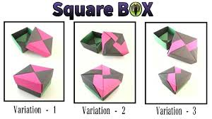 square gift box lid 3 variations by tomoko fuse diy modular square gift box lid 3 variations by tomoko fuse diy modular origami tutorial 817