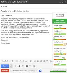 Follow Up With Job Interviews After No Response Boomerang For Gmail