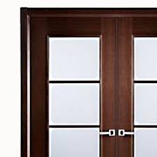 aries mia interior double door in a wenge finish with frosted glass panels 1 1 2 mdf theril veneer color brown aries interior doors
