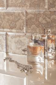 Bevelled Bathroom Mirror Glass Bevel Metro Subway Tiles Feature A Striking Antique Mirror