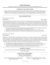 architect resume format web architect resume templates instathreds co