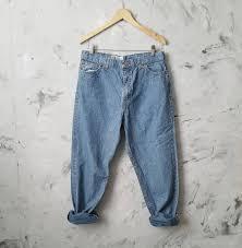 Vintage 80s Faded Glory Baggy Straight Leg Denim Blue Jeans