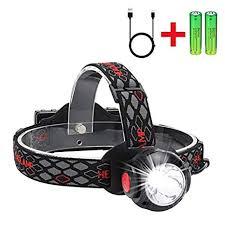 Headlamp, <b>Skywolfeye</b> Super Bright Headlight Flashlight with White ...