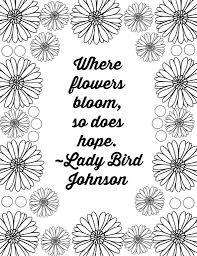Coloring Pages Free Printable Flower Quote Coloring Pages Page