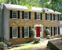 photos red front doors colors and the black door brick house for with shutters on