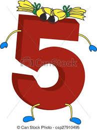 Livlig, 5, rolig, 3, röd, numrera. Ben, 5, bakgrund, rolig, isolerat, 3,  ansikte, vit röd, (five), barn, räcker, numrera.   CanStock