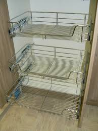 x pull out wire basket chrome kitchen bedroom drawer storage wire storage baskets kitchen cupboards wire mesh kitchen storage baskets