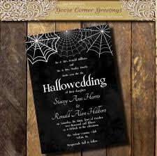 Halloween Wedding Invitations Printable Halloween Wedding Invitation Hallowedding Etsy
