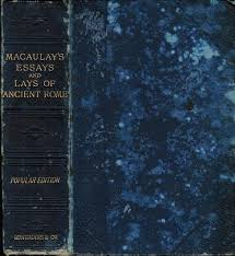lays ancient rome by macaulay abebooks