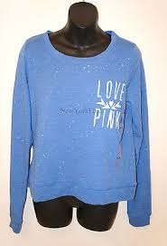 Victorias Secret Love Pink Sweater Pull Over Long Sleeve