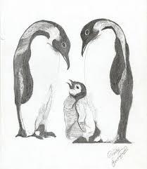 penguin drawings in pencil. Modren Pencil HB Pencil Art Work  Faizer Arts And Penguin Drawings In Pencil Y
