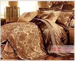 astonishing gold king size comforter sets com 7pcs black jacquard fl set bed in a bag home kitchen