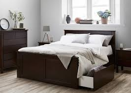 king size bed with storage drawers. Hardwood Fantastic King Size Bed With Four Storage Drawers \u2013 Brown H
