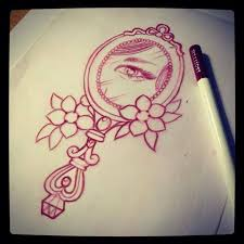 vintage mirror drawing. 32 best ideas about tattoo designs \u0026 paintings on . vintage mirror drawing d
