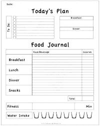 Sample Food Logs Food Journal Template Excel Diary Weekly Sample Daily Log 7
